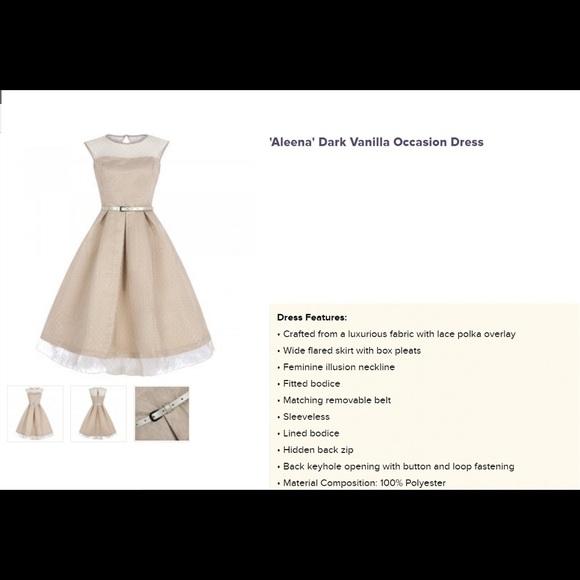 4792971619 New Dark Vanilla Occasion Dress size 14